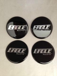 American Eagle Alloys Wheel Rim Center Cap Sticker Decal Set of 4 71mm