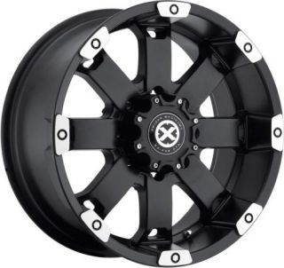 20 Black ATX Wheels Rims Dodge RAM Chevy Silverado GMC Sierra 2500