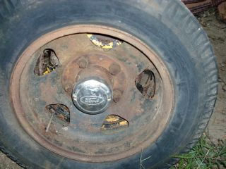 1935 1946 Ford 1 1 2 Ton Truck Rear Wheel Original