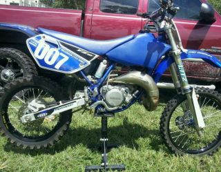 YZ 85 Black Excel Big Wheels with Blue Hubs