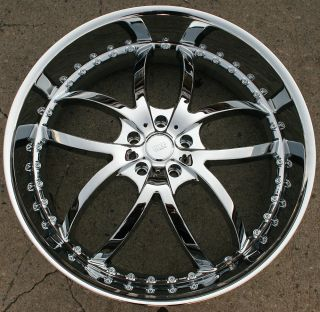 Bigg Style 406 24 Chrome Rims Wheels BMW 645 650 Caprice 24 x 9 5 5H