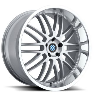 19 Staggered Silver Beyern Mesh Wheels Rims 5x120 BMW 3 Series E90