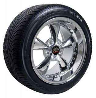 Chrome Bullitt Wheels Nexen Tires Rims Fit Mustang® 94 04