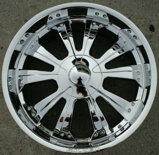 SPINE 22 CHROME RIMS WHEELS CADILLAC ESCALADE 99 up / 22 X 9.5 6H +15