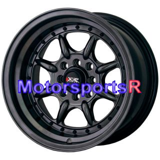 002 C Black Wheels Rims Deep Step Lip Stance 4x100 98 Honda Civic SI