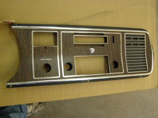 1968 Mercury Woodgrain Dash Bezel Radio Bezel Trim