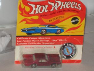 HOT WHEELS REDLINE BP UNPUNCHED CARD CUSTOM CONTINENTAL MARK lll ROSE