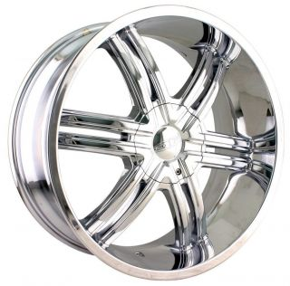 20 inch DIP Hack Chrome Wheels Rims 5x115 300C Charger Magnum