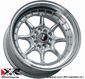 XXR 002 15 ET38 4x100 108 SILVER ALLOY WHEELS STARLET CIVIC EG EK FORD
