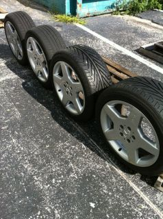 Mercedes Benz AMG Factory 18 Wheels and Tires in Great Condition