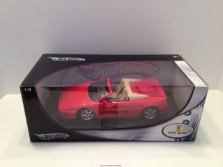 Hot Wheels 1 18 Scale Ferrari F355 Spider Diecast Model Car