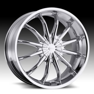 22 inch Milanni Baron Chrome Wheels Rims 5x4 5 5x114 3