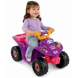 Power Wheels Dora Explorer Lil Quad ATV Battery Recharge Kids Girls