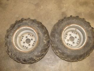 Trail Boss Trailboss 330 ATV Rear Wheels Rims Tires 22x11 10 07