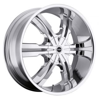 24 inch Strada Vetro Chrome Wheels Rims 5x115 300C Charger Magnum