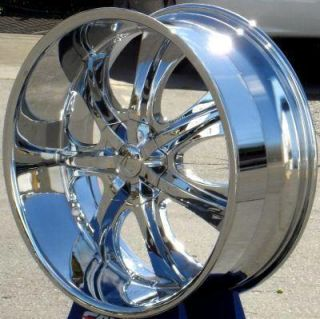 26 Wheels Rims Package Free Tires Velocity V725 Chrome Deep Lip 5x120