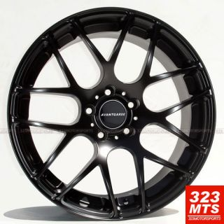 19 Wheels Avant Garde M310 Staggered Rims Matte Black Ifiniti Nissian