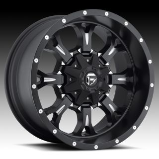 17x9 Krank XD 17 inch Chevy Ford Dodge Black Wheels Rims Set