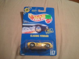 1990 Hot Wheels Classic Ferrari 117 w TH E10 Point Box