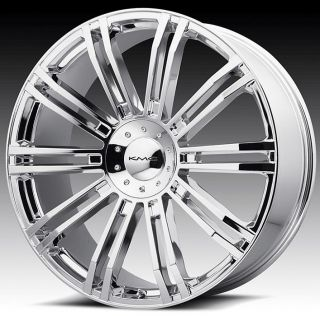 24 inch KMC Chrome Wheels Rims 6x135 Ford F150 6 Lug