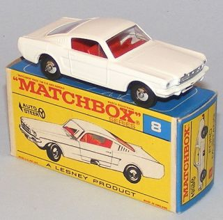 Matchbox Regular Wheels 8 E Ford Mustang RARE F Box