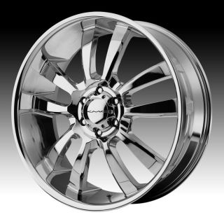 22 inch KMC Chrome Wheels Rims 6x135 Ford F150 Expedition Navigator 6