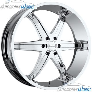 20x9 Milanni Kool Whip 6 6x139 7 6x5 5 18mm Chrome Wheels Rims Inch 20