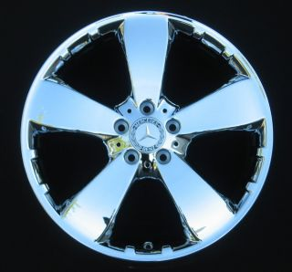 Benz ML350 Broad 5 Spoke Rims Wheels Chrome 85198 Outright