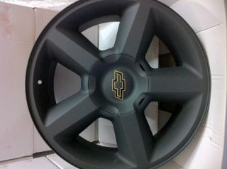 Matte Black Chevrolet Tahoe Avalanche Suburban Factory LTZ Wheels Rims