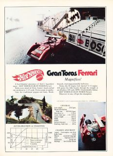 1971 Gran Toros Ferrari Hot Wheels Classic Vintage Advertisement Ad