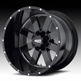 20 inch 20x9 Moto Metal Black Wheels Rims 5x150 Tundra Sequoia LX470