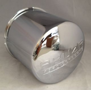 Akuza ARC15 8 Lug Wheel Rim Chrome Metal Center Cap Push thru PCW