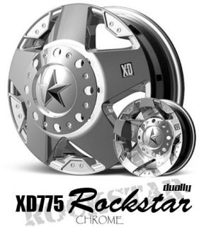 17 inch XD Rockstar Chrome Dually Wheels 8x6 5 8x165 1
