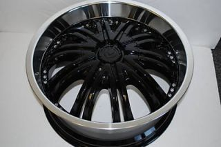 Four New 20 Black Wheels Rims Chrysler Wheels Nissan Altima Cadillac