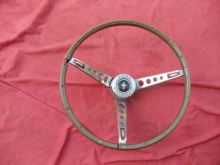 65 66 Mustang 66 Fairlane 66 Galaxie Wood Grain Steering Wheel Pony