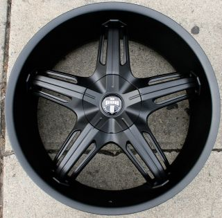 Dub Drone 5 S156 22 M Black Rims Wheels Lincoln LS 00 07 22 x 9 0 5H