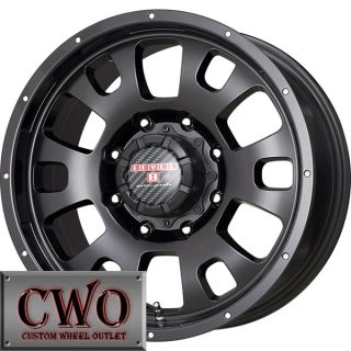 20 Black Level 8 Guardian Wheels Rims 8x170 8 Lug Ford F250 F350 Super