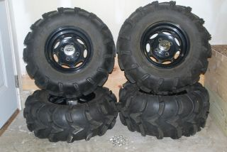ATV Mud Lite Tires ITP Aluminum Wheels 26 10 12 26 12 12 Yamaha