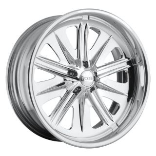 17 FOOSE Fighter 2 Piece Forged Polished Custom Wheel Set Part F212