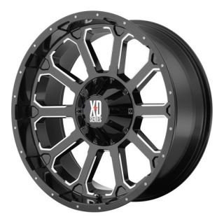 XD806 BOMB XD80689080300 18X9 0MM OFFSET 8X6 5 G BLACK MACH SINGLE RIM