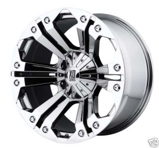 20 XD XD778 Monster Wheels Tires Chrome Offroad Rims