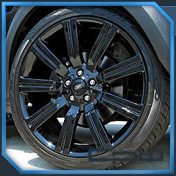Gloss Black 22 inch Stormer Rims Wheels Tires Fits Range Rover Sport