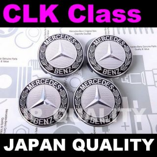 X4 Mercedes Benz Black Logo Alloy Wheel Center Caps W208 W209 CLK