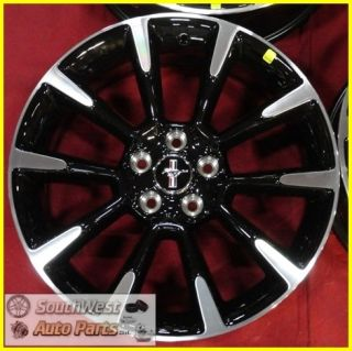 Ford Mustang 19 Machined Black Wheel Factory Take Off Rim 3863
