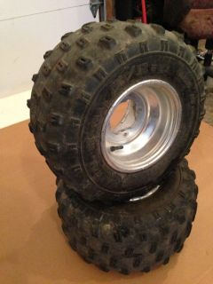 Yamaha Banshee ATV Rear Rims and Tires Good Condition Warrior Raptor
