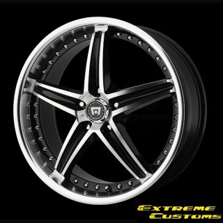 Motegi MR107 Gloss Black Machined 5 Lugs Wheels Rims Free Lugs