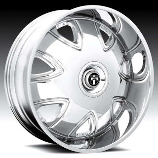 26 Dub 26 inch 26x9 5 Bandito Chrome Rims Wheels Tires Package Lugs