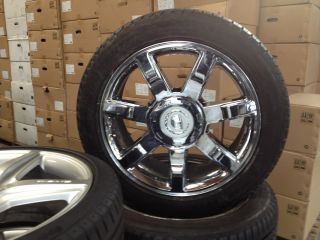 ESCALADE FACTORY OEM CHROME WHEELS TIRES SILVERADO TAHOE SIERRA 20