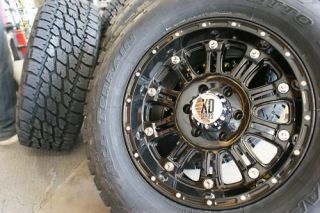 17 XD Hoss Gloss Black Wheels Rims 305 70R17 Nitto Terra Grappler at