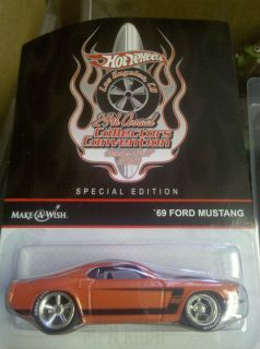 Hot Wheels New Carded Los Angeles 10 Convention 69 Ford Mustang Real